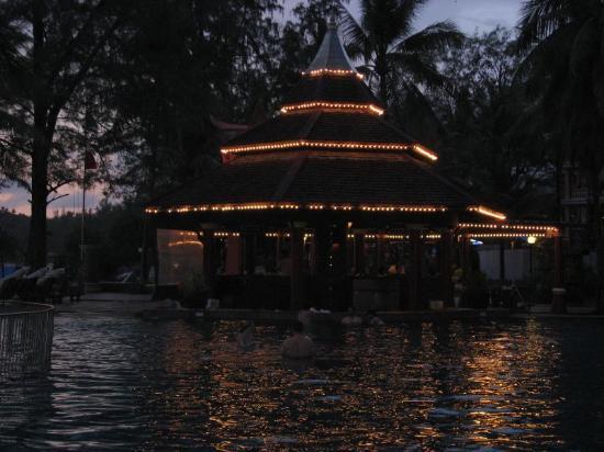 Kata Happy House: Pool Bar at night