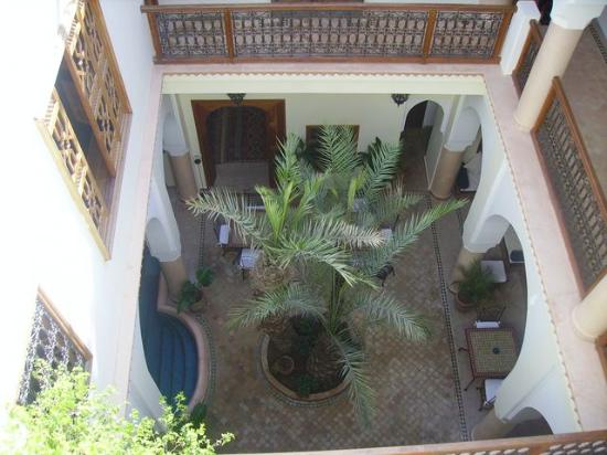 Riad Les Trois Palmiers El Bacha: patio vu d'en haut