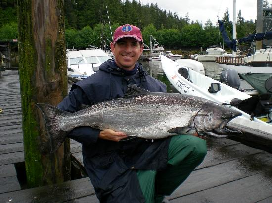 Black Bear Inn: 34lb King Salmon from kayak