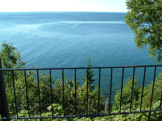 The Cliff Dweller on Lake Superior: View off the Balcony