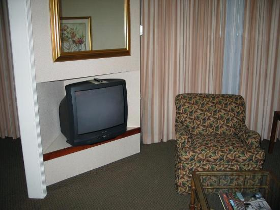 DoubleTree Suites by Hilton Hotel Dayton - Miamisburg: View of chair and TV