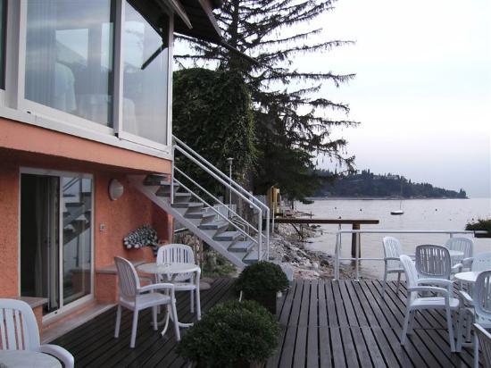 Hotel Vega: Side Lake view room (Lower Window) & Breakfast/dining room (upper window)