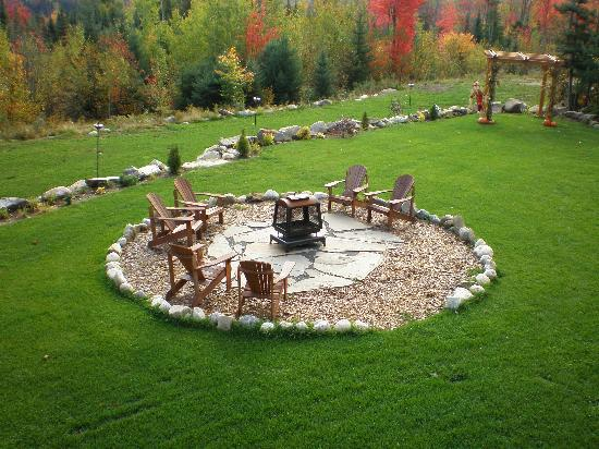 Outdoor Fire Pit With Adirondack Chairs Picture Of Bear Mountain