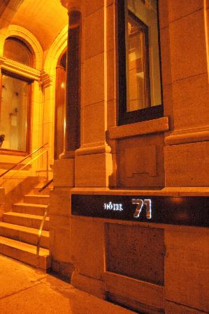 Hotel 71: outside hotel