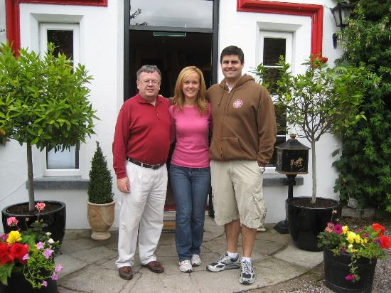 Michael Rosney My Fiancee And Me In Front Of The Hotel Picture Of Killeen House Hotel Rozzers Restaurant Aghadoe Tripadvisor
