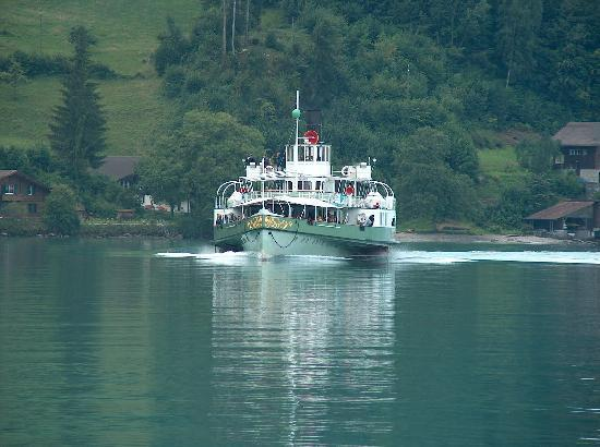 Hotel Brienzerburli And Lowen: steamer on lake brienz