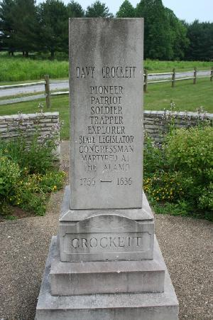 Memorial Honoring Davy Crockett Picture Of David Crockett Birthplace State Park Limestone