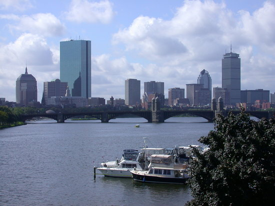 Boston Skyline seen from near the Sience Museum