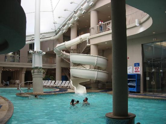 Hilton Niagara Falls Fallsview Hotel Suites Pool Slide At The