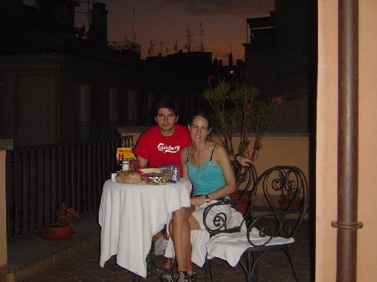 Residenza Canali ai Coronari: Romantic dinner in the suite terrace