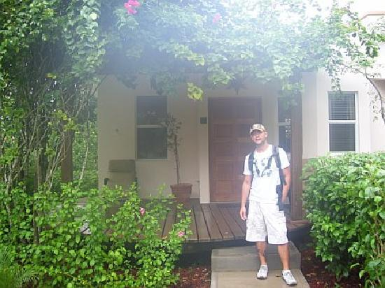 Ka'ana Resort: Me in front of our King Villa (Room #7)
