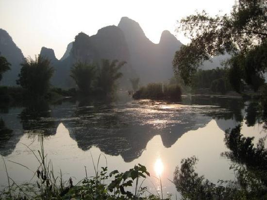 Yangshuo Mountain Retreat: View from the front of the hotel