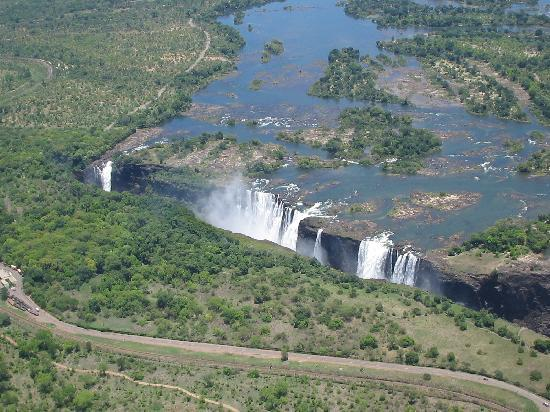 The Kingdom at Victoria Falls: Vic Falls from helicopter