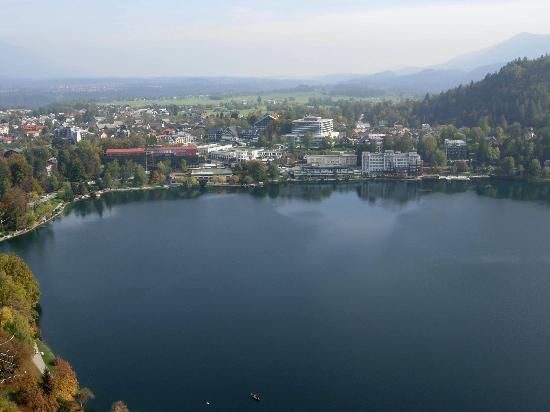 Penzion Mayer: View of Bled from the Castle