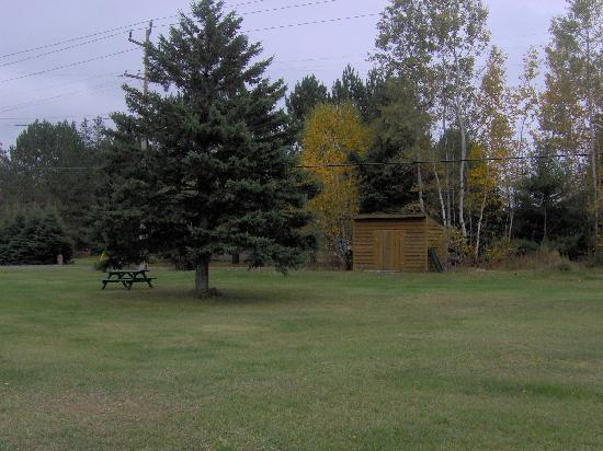 Arrowhead Inn: Back area of motel where your pet can exercise