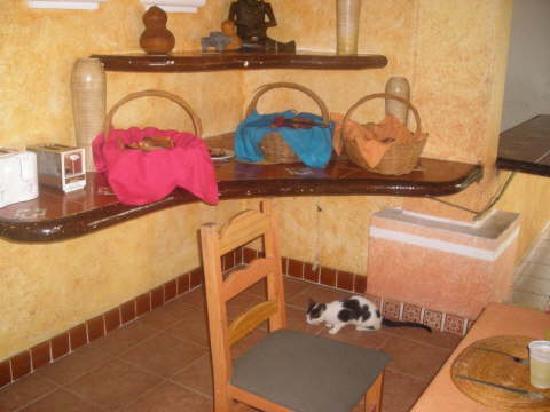 Maya Tankah by Freedom Paradise: il gatto nella sal da pranzo