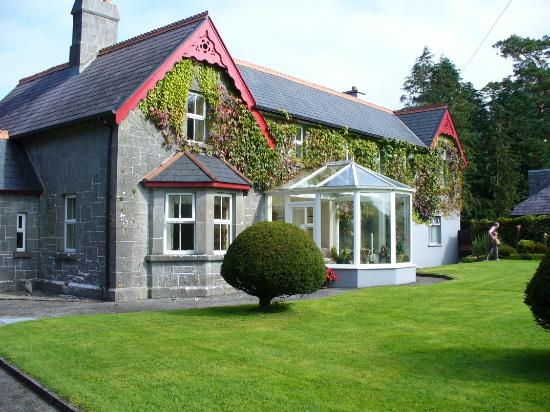 Ballykine House: The side of the house (note the solarium)