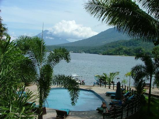Lembeh Resort: View from restaurant toward Mainland