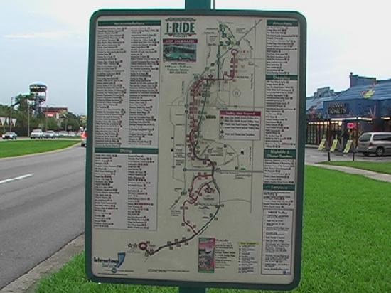 I Ride Orlando Map I Ride trolley map   Picture of The Enclave Hotel & Suites