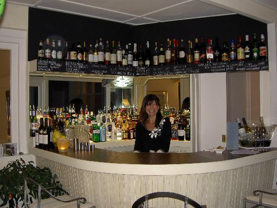The bar at the Boskerris Hotel