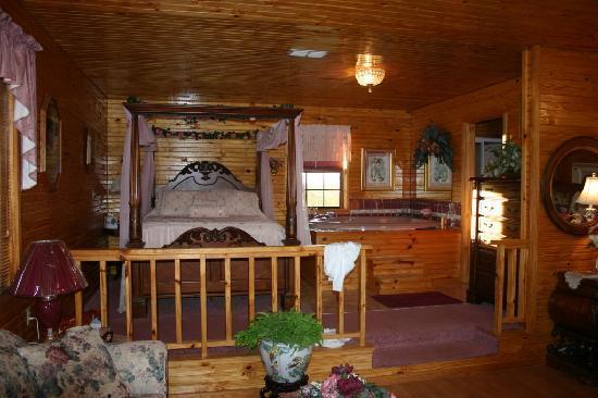 Ouachita Mountain Hideaway: Bed  & Bath