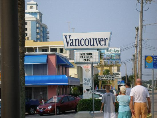Vancouver Motel: Vancouver sign from on Ocean Blvd