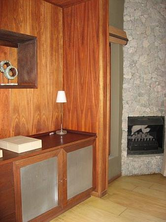 andBeyond Leadwood Lodge: Entry/fireplace/minibar