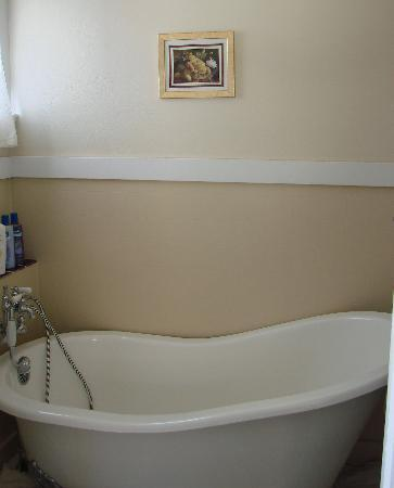 Rose River Inn: The fantastic bath in the compact yet perfectly formed bathroom!