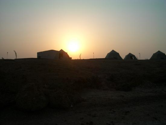 Sudan Red Sea Resort : The camp at sunset
