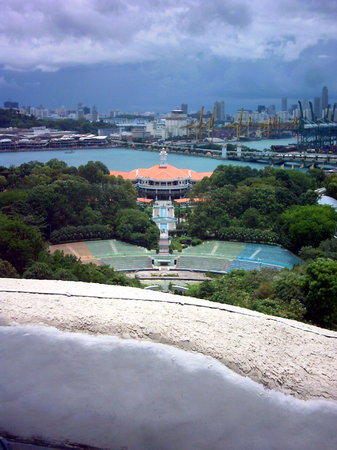 Marina Bay, Cingapura: View from Merlion Head