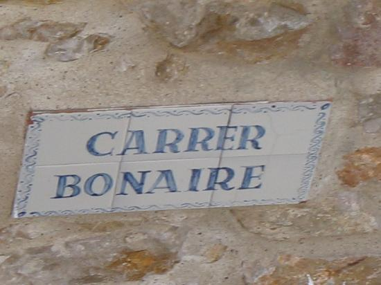 Hotel Bonaire: located on Carrer Bonaire, if you're interested
