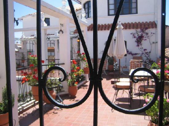 El Hostal de Su Merced: through the door of my room to the terrace