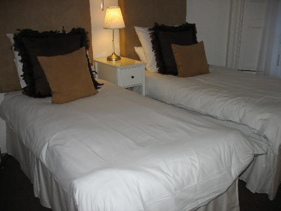 The White House: The two single beds in my room - amazing pillows!!