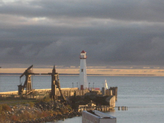 Saint Ignace, MI: lighthouse on Lake Huron