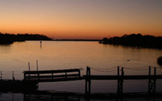 Floryda: The Sunset on Steinhatchee River