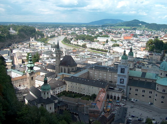 Wien, Østerrike: view over salaburg