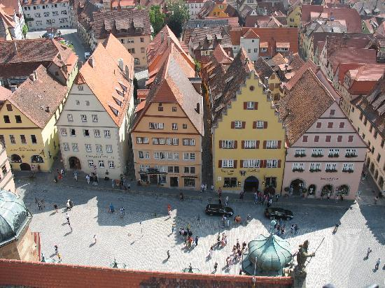 Rothenburg Town Hall (Rathaus): View from the top - worth the small fee and the cozy stairwells!