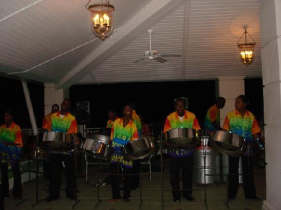 Sandals Grande St. Lucian Spa & Beach Resort: the steel drum band