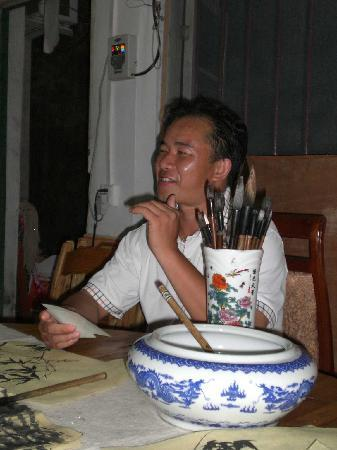 Yangshuo Culture House: Wei's Chinese brush painting lesson