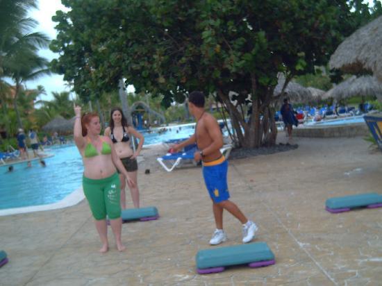 Caribe Club Princess Beach Resort & Spa: clase de step