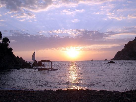 Corfu, Grækenland: paleo sunset