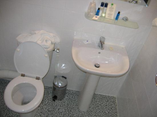 Comfort Hotel Paris La Fayette : bathroom get wet from shower stall