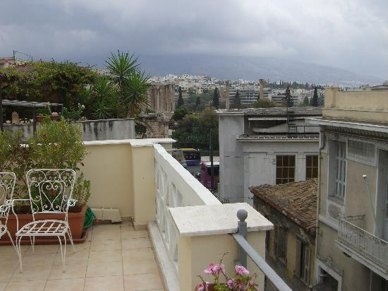 AVA Hotel Athens: view to left