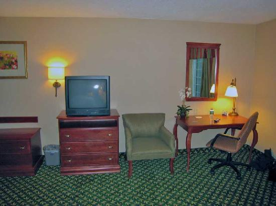 Hampton Inn & Suites Greenfield: Room amenities