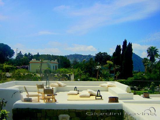 Forio, Italia: aperitiv on the lounge bar roof