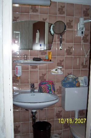 Hotel Schweizerhof: Tiny Bath