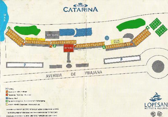 IFA Catarina Hotel: Plan of hotel,avoid rooms 144 to 169