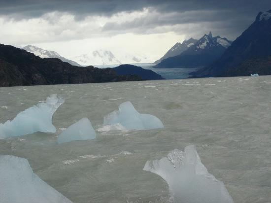 Torres del Paine National Park, Şili: Lago y glaciar Grey, belleza salvaje.