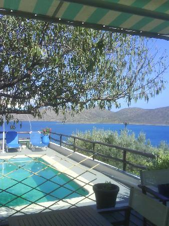 Elounda Heights Apartments and Studios: View from pool bar