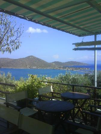 Elounda Heights: View from outside studio